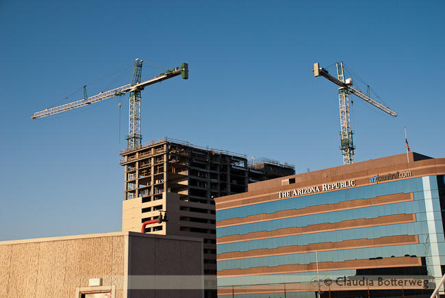 Cranes for the new Sheraton