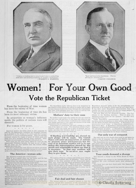 1920 Republican Ad from Needlecraft Magazine