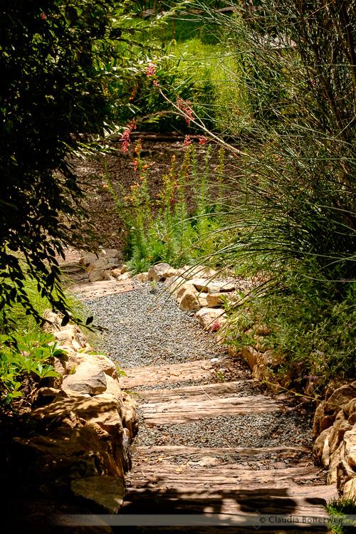 Rustic Stairs in Garden